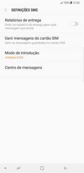 Samsung Galaxy Note 8 - SMS - Como configurar o centro de mensagens -  10