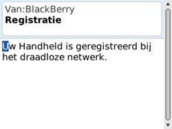 BlackBerry 8520 Curve - Instellingen - Configuratiebericht ontvangen - Stap 10