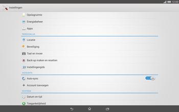 Sony Xperia Tablet Z2 4G (SGP521) - Instellingen aanpassen - Fabrieksinstellingen terugzetten - Stap 4