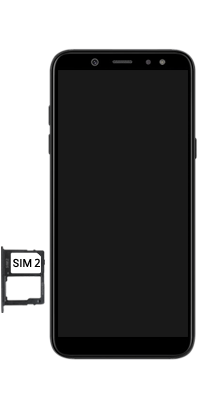 Samsung Galaxy A6 - Premiers pas - Insérer la carte SIM - Étape 8
