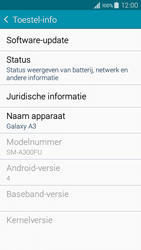 Samsung A300FU Galaxy A3 - Software update - update installeren zonder PC - Stap 5