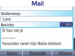 Nokia Asha 210 - E-mail - Hoe te versturen - Stap 12