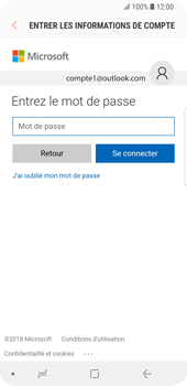 Samsung Galaxy S9 - E-mail - Configuration manuelle (outlook) - Étape 7