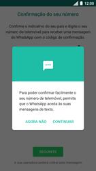 Motorola Moto C Plus - Aplicações - Como configurar o WhatsApp -  11