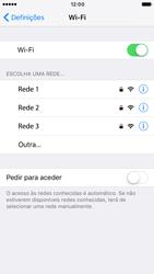 Apple iPhone 6 iOS 10 - Wi-Fi - Como ligar a uma rede Wi-Fi -  5