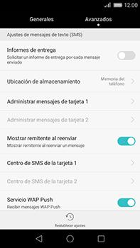 Huawei GX8 - Mensajería - Configurar el equipo para mensajes de texto - Paso 5