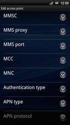 Sony Ericsson Xperia Neo V - Mms - Manual configuration - Step 10