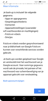 Huawei Mate 20 - Data - Maak een back-up met je account - Stap 11