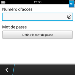 BlackBerry Q5 - Messagerie vocale - Configuration manuelle - Étape 8