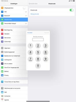 Apple ipad-pro-12-9-inch-2018-model-a1895 - Beveiliging en ouderlijk toezicht - Hoe wijzig ik mijn SIM PIN-code - Stap 10