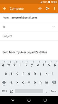 Acer Liquid Zest 4G Plus - E-mail - Sending emails - Step 5