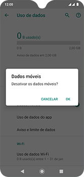 Motorola Moto G7 - Rede móvel - Como ativar e desativar uma rede de dados - Etapa 7