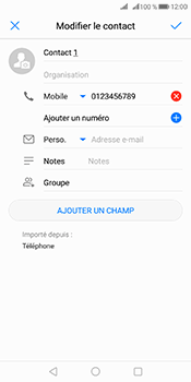 Huawei Mate 10 Pro - Contact, Appels, SMS/MMS - Ajouter un contact - Étape 8