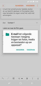 Samsung Galaxy S8 (G950) - E-mail - Bericht met attachment versturen - Stap 12