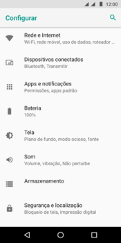 Motorola Moto G6 Play - Rede móvel - Como selecionar o tipo de rede adequada - Etapa 4