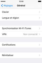 Apple iPhone 4 S iOS 9 - Device maintenance - Retour aux réglages usine - Étape 5