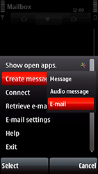 Nokia 5800 Xpress Music - E-mail - Sending emails - Step 7