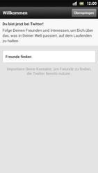 Sony Xperia S - Apps - Twitter einrichten - Schritt 8