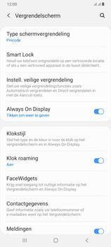 Samsung Galaxy A70 - Beveiliging en privacy - automatische schermblokkering instellen - Stap 13