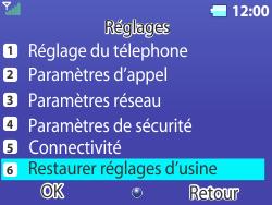 Bouygues Telecom Bc 311 - Aller plus loin - Restaurer les paramètres d'usines - Étape 4