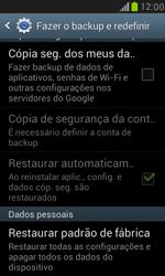 Samsung I8190 Galaxy S III Mini - Funções básicas - Como restaurar as configurações originais do seu aparelho - Etapa 5