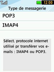 LG T580 - E-mails - Ajouter ou modifier un compte e-mail - Étape 8