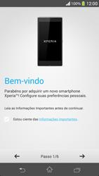 Sony C5303 Xperia SP - Primeiros passos - Como ativar seu aparelho - Etapa 6