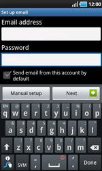 Samsung I9000 Galaxy S - E-mail - Manual configuration - Step 5