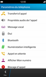 BlackBerry Z10 - Messagerie vocale - configuration manuelle - Étape 6