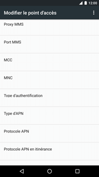 Huawei Nexus 6P - MMS - configuration manuelle - Étape 12