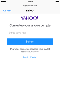 Apple Apple iPhone 6s Plus iOS 10 - E-mail - Configuration manuelle (yahoo) - Étape 6