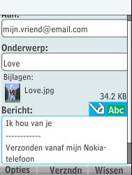 Nokia 301-1 - E-mail - Hoe te versturen - Stap 17