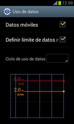 Samsung S7560 Galaxy Trend - Internet - Ver uso de datos - Paso 10