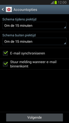 Samsung N7100 Galaxy Note II - E-mail - Account instellen (POP3 zonder SMTP-verificatie) - Stap 12