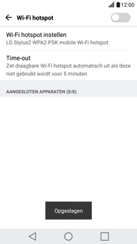 LG K520 Stylus 2 DAB+ - WiFi - Mobiele hotspot instellen - Stap 8