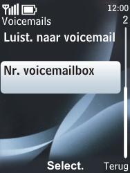 Nokia 6303 classic - Voicemail - handmatig instellen - Stap 6