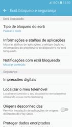 Samsung Galaxy S6 Android M - Segurança - Como ativar o código de bloqueio do ecrã -  5
