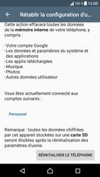 Sony Xperia X - Device maintenance - Retour aux réglages usine - Étape 7