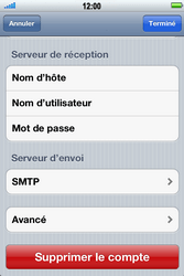 Apple iPhone 4 S - E-mail - Configuration manuelle - Étape 11
