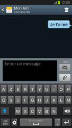 Samsung Galaxy S3 4G - Contact, Appels, SMS/MMS - Envoyer un SMS - Étape 11
