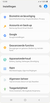 Samsung galaxy-a7-dual-sim-sm-a750fn-android-pie - Instellingen aanpassen - Back-up maken in je account - Stap 4