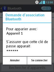 LG E430 Optimus L3 II - Bluetooth - connexion Bluetooth - Étape 10