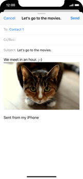 Apple iPhone X - E-mail - Sending emails - Step 14