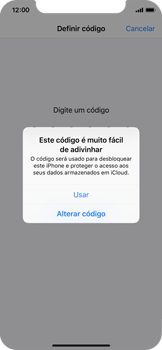 Apple iPhone X - iOS 12 - Segurança - Como ativar o código de bloqueio do ecrã -  6