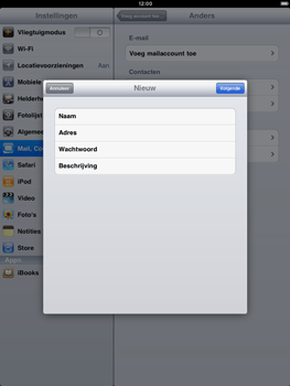Apple iPad 2 - E-mail - Handmatig instellen - Stap 8