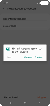Samsung galaxy-s10-plus-dual-sim-sm-g975f - E-mail - 032c. Email wizard - Outlook - Stap 13