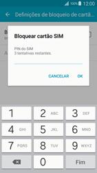 Samsung Galaxy S4 LTE - Segurança - Como ativar o código PIN do cartão de telemóvel -  8