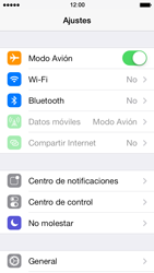 Apple iPhone 5s - Funciones básicas - Activar o desactivar el modo avión - Paso 4