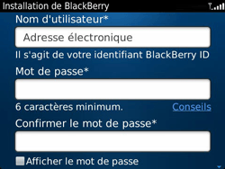 BlackBerry 9360 Curve - BlackBerry activation - BlackBerry ID activation - Étape 9