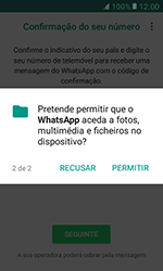 Samsung Galaxy Xcover 3 (G389) - Aplicações - Como configurar o WhatsApp -  8
